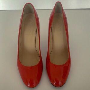 J. Crew Shoes - J Crew Coral Orange Patent Leather Pumps Shoes